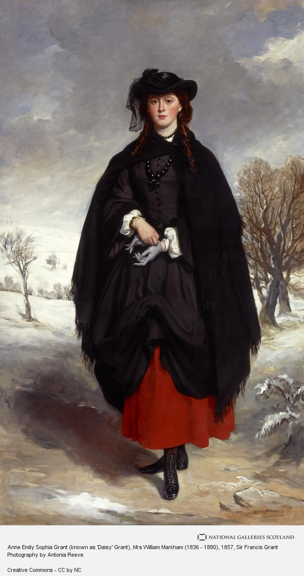 Sir Francis Grant, Anne Emily Sophia Grant (known as 'Daisy' Grant), Mrs William Markham (1836 - 1880)