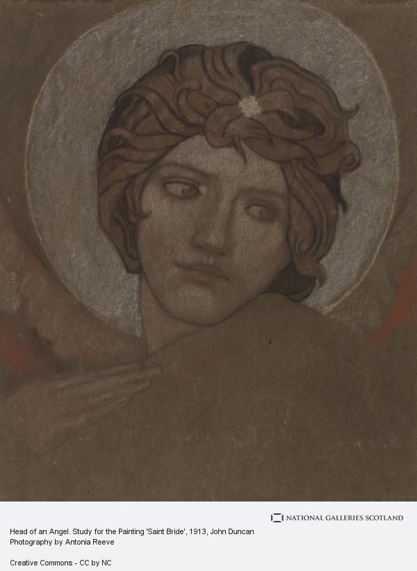 John Duncan, Head of an Angel. Study for the Painting 'Saint Bride'