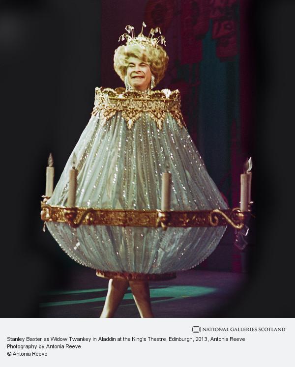 Antonia Reeve, Stanley Baxter as Widow Twankey in Aladdin at the King's Theatre, Edinburgh