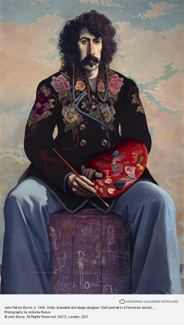 John Byrne, John Patrick Byrne, b. 1940. Artist, dramatist and stage designer (Self-portrait in a Flowered Jacket)