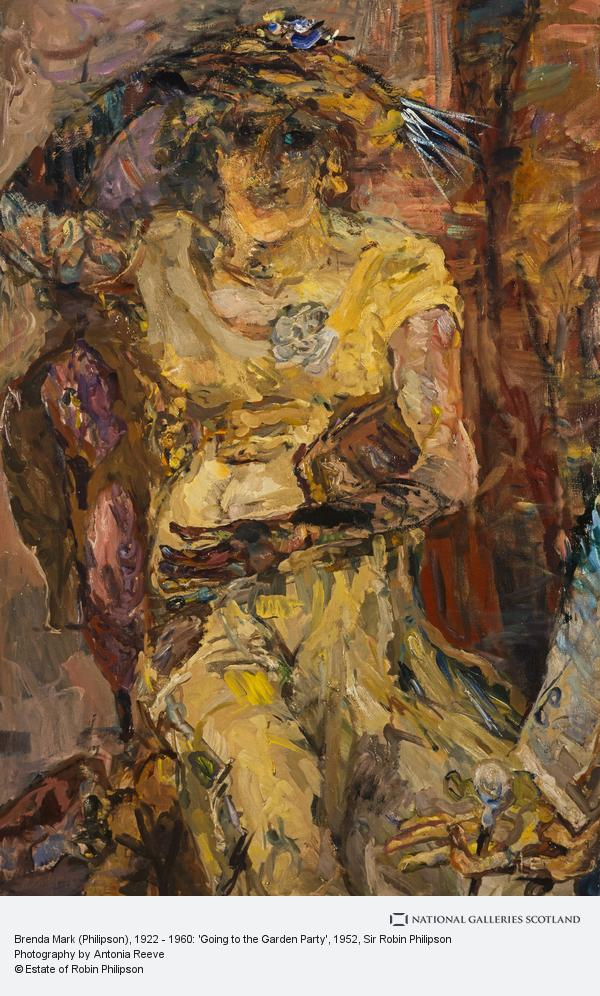Sir Robin Philipson, Brenda Mark (Philipson), 1922 - 1960: 'Going to the Garden Party' (1952)