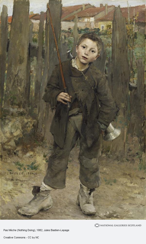 Jules Bastien-Lepage, Pas Mèche (Nothing Doing) (1882)