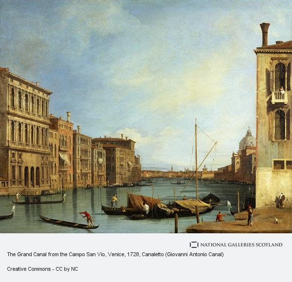 Canaletto (Giovanni Antonio Canal), The Grand Canal from the Campo San Vio, Venice