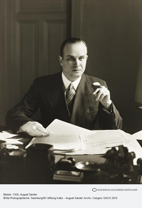 August Sander, Banker, 1929 (1929)
