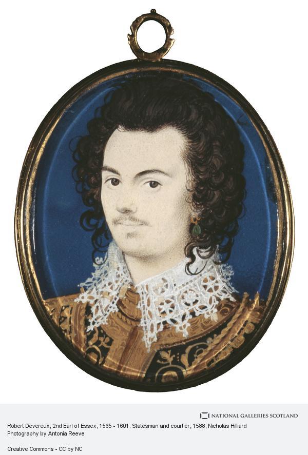 Nicholas Hilliard, Robert Devereux, 2nd Earl of Essex, 1565 - 1601. Statesman and courtier