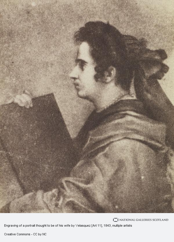 David Octavius Hill, Engraving of a portrait thought to be of his wife by Velasquez [Art 11]