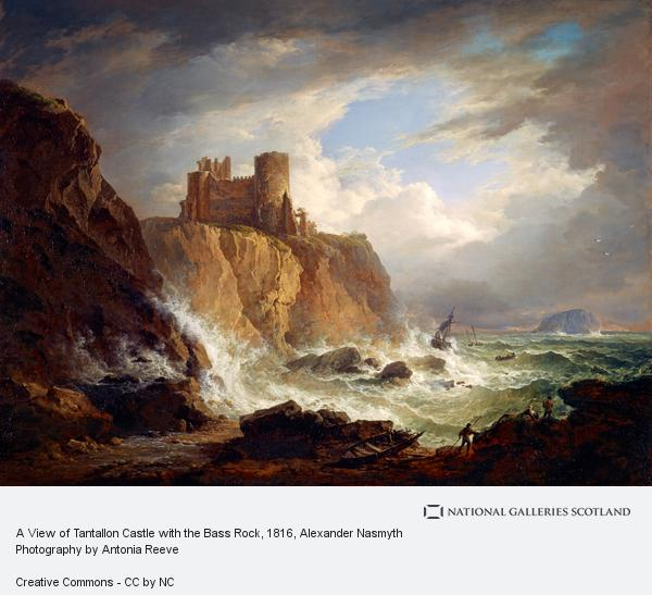 Alexander Nasmyth, A View of Tantallon Castle with the Bass Rock (About 1816)