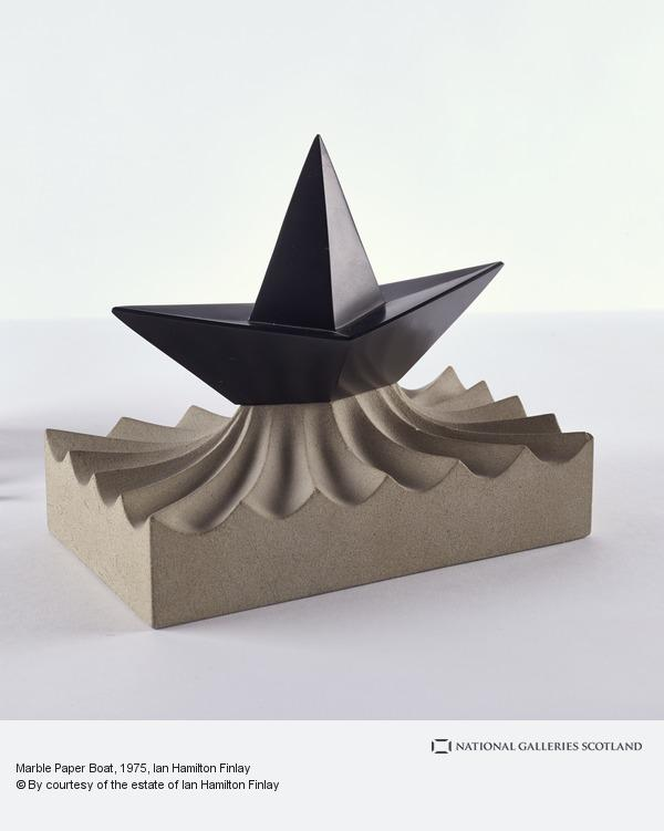 Ian Hamilton Finlay, Marble Paper Boat