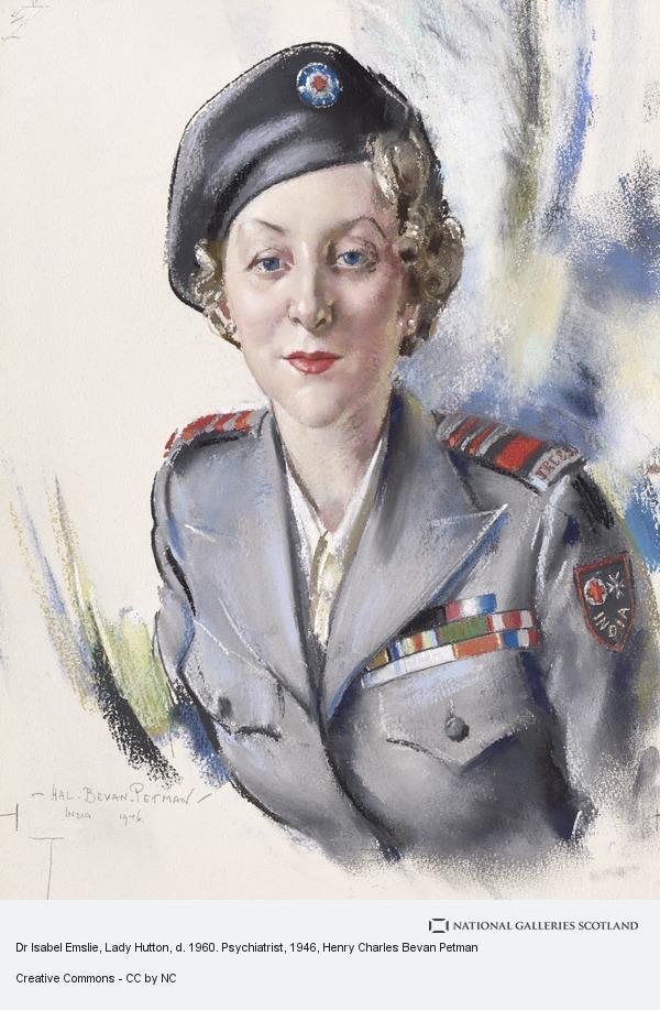 Henry Charles Bevan Petman, Dr Isabel Emslie, Lady Hutton, d. 1960. Psychiatrist