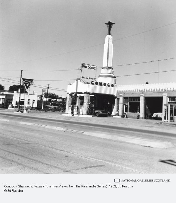 Ed Ruscha, Conoco - Shamrock, Texas (from Five Views from the Panhandle Series) (1962 / 2007)