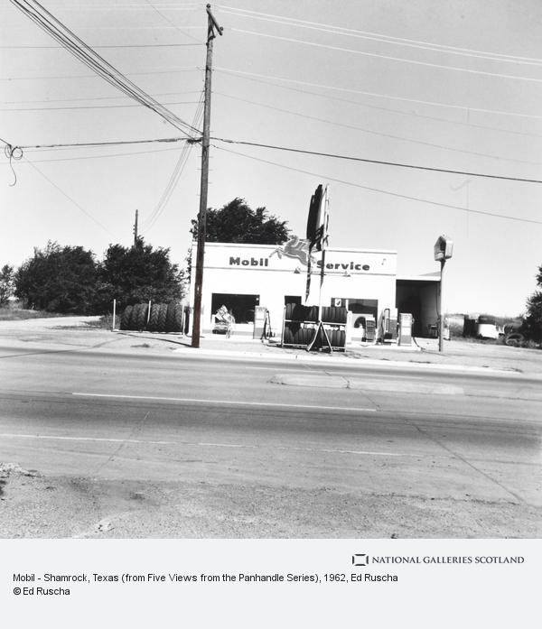 Ed Ruscha, Mobil - Shamrock, Texas (from Five Views from the Panhandle Series) (1962 / 2007)