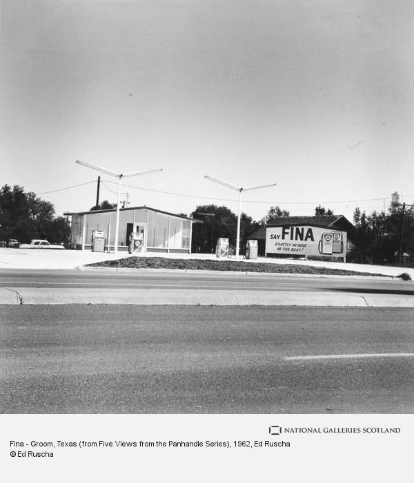 Ed Ruscha, Fina - Groom, Texas (from Five Views from the Panhandle Series) (1962 / 2007)