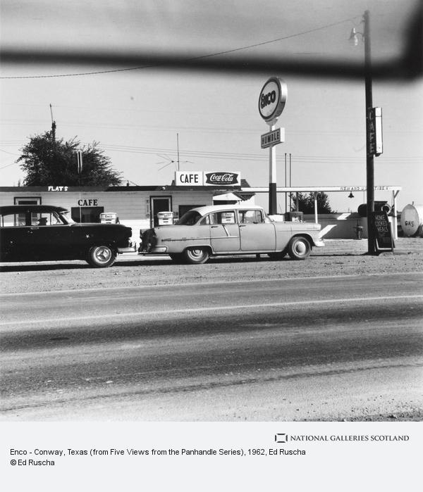 Ed Ruscha, Enco - Conway, Texas (from Five Views from the Panhandle Series) (1962 / 2007)