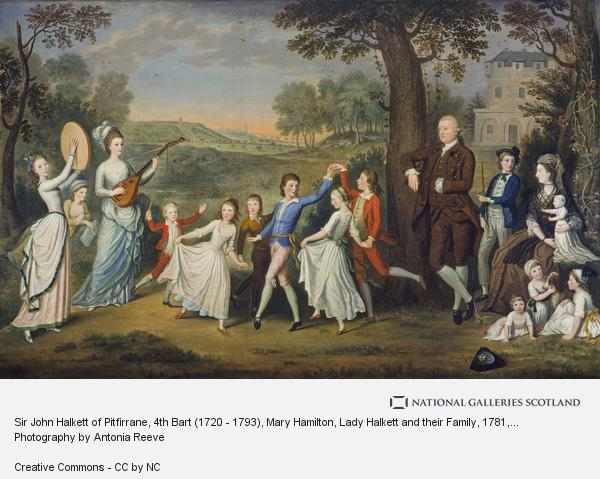 David Allan, Sir John Halkett of Pitfirrane, 4th Bart (1720 - 1793), Mary Hamilton, Lady Halkett and their Family (Dated 1781)