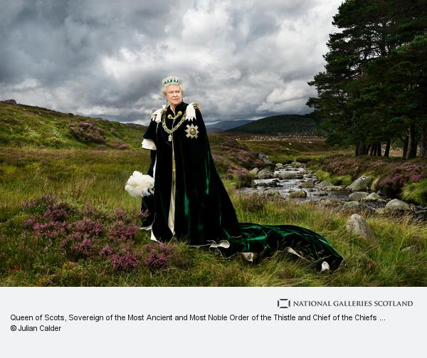 Julian Calder, Queen of Scots, Sovereign of the Most Ancient and Most Noble Order of the Thistle and Chief of the Chiefs (born 1926) (Photographed in 2010 (printed 2013))