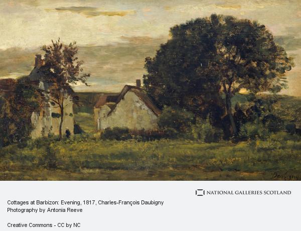 Charles-François Daubigny, Cottages at Barbizon: Evening
