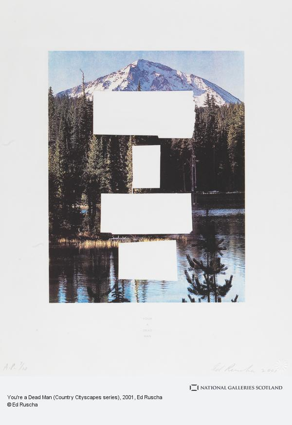 Ed Ruscha, You're a Dead Man (Country Cityscapes series) (2001)