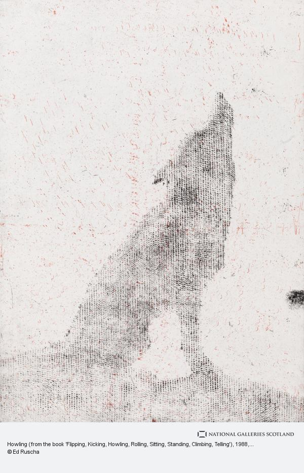 Ed Ruscha, Howling (from the book 'Flipping, Kicking, Howling, Rolling, Sitting, Standing, Climbing, Telling') (1988)