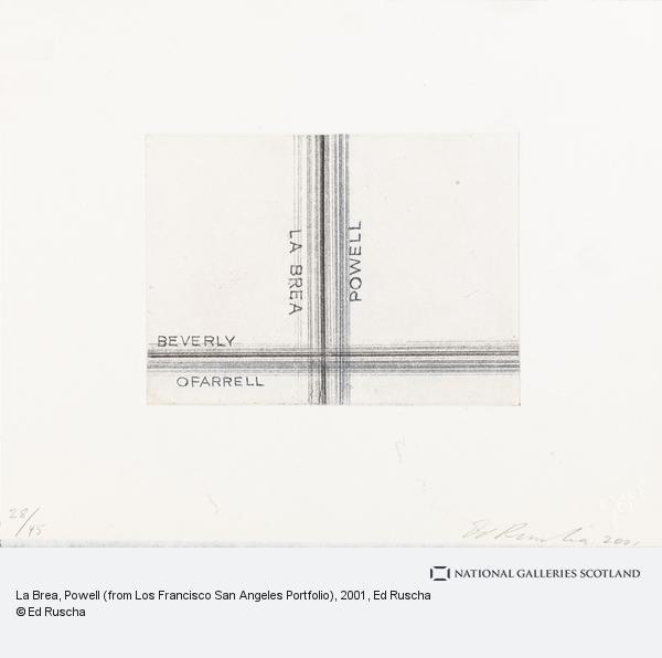Ed Ruscha, La Brea, Powell (from Los Francisco San Angeles Portfolio) (2001)