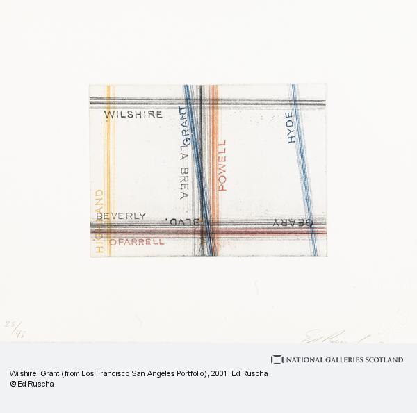 Ed Ruscha, Wilshire, Grant (from Los Francisco San Angeles Portfolio) (2001)