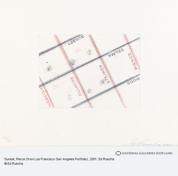 Ed Ruscha, Sunset, Pierce (from Los Francisco San Angeles Portfolio) (2001)