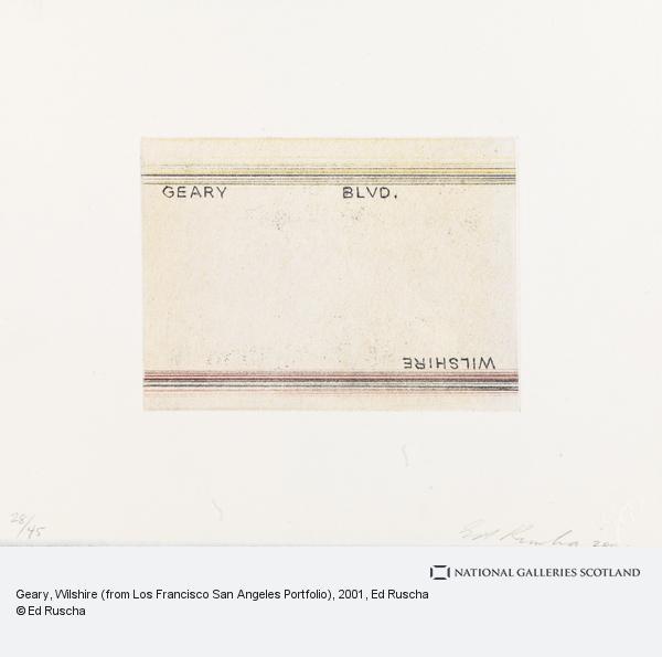 Ed Ruscha, Geary, Wilshire (from Los Francisco San Angeles Portfolio) (2001)