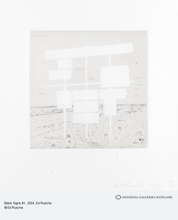 Ed Ruscha, Blank Signs #1 (2004)