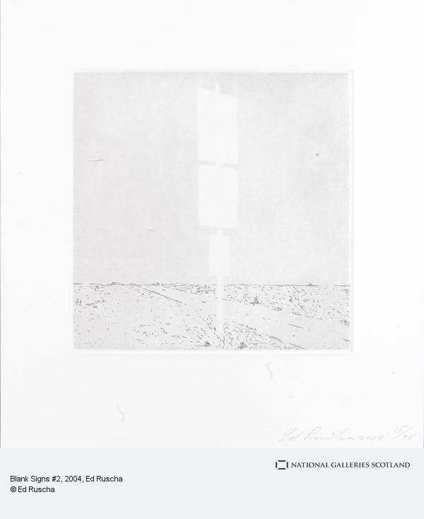 Ed Ruscha, Blank Signs #2 (2004)