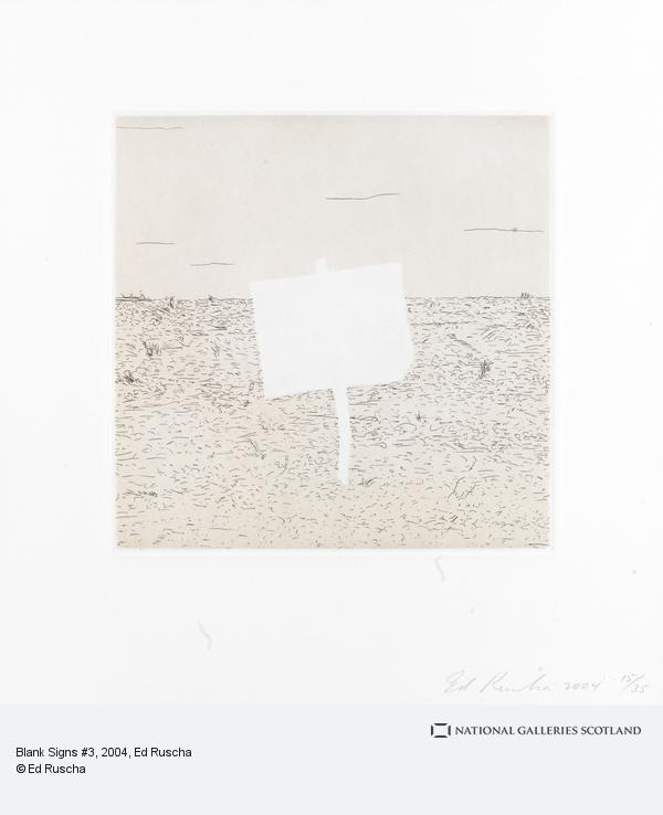 Ed Ruscha, Blank Signs #3 (2004)
