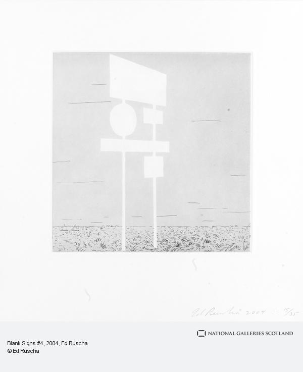 Ed Ruscha, Blank Signs #4 (2004)