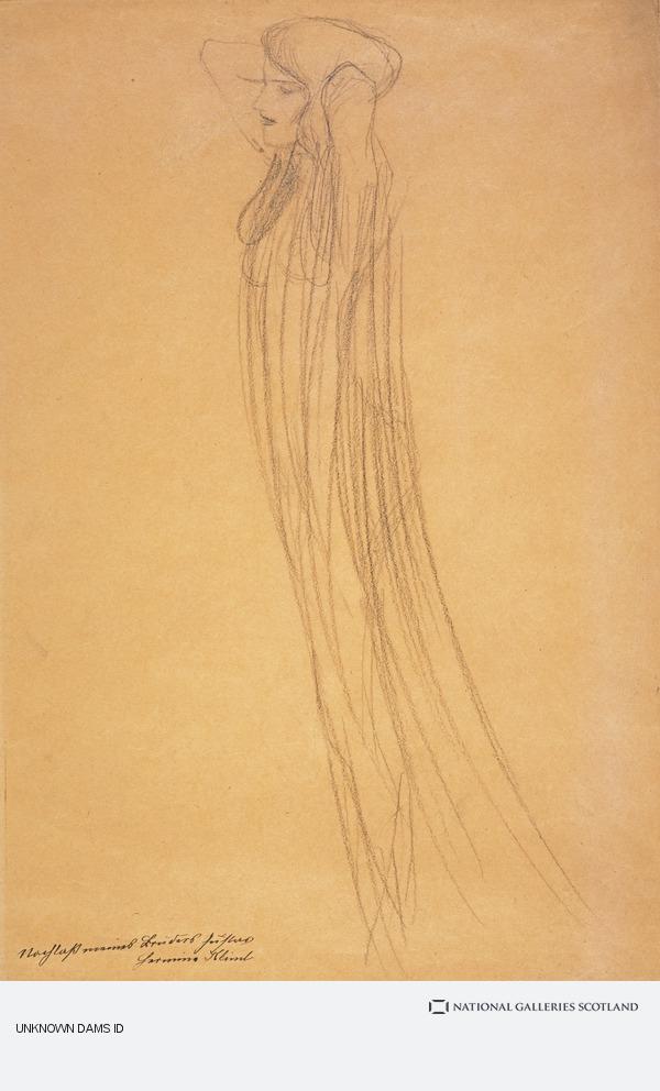 Gustav Klimt, Frau mit durchsichtigem Gewand [Woman with Transparent Drapery] (About 1902)