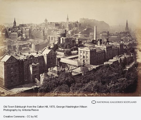 George Washington Wilson, Old Town Edinburgh from the Calton Hill (1870s)