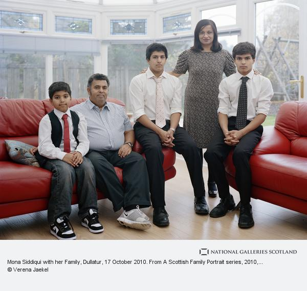 Verena Jaekel, Mona Siddiqui with her Family, Dullatur, 17 October 2010. From A Scottish Family Portrait series