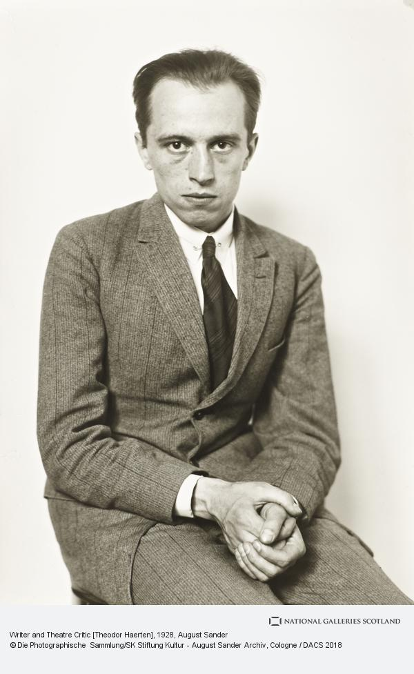 August Sander, Writer and Theatre Critic [Theodor Haerten], 1928 (1928)
