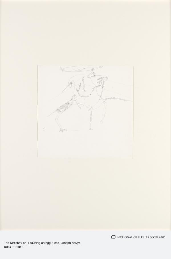 Joseph Beuys, The Difficulty of Producing an Egg (1968)