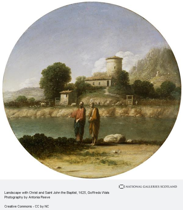 Goffredo Wals, Landscape with Christ and Saint John the Baptist