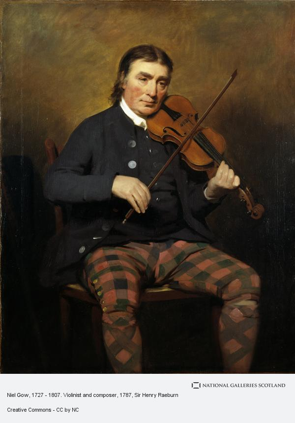 Sir Henry Raeburn, Niel Gow, 1727 - 1807. Violinist and composer