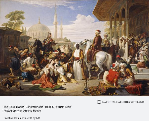 Sir William Allan, The Slave Market, Constantinople (Dated 1838)