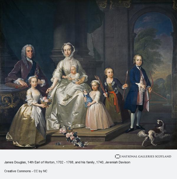 Jeremiah Davison, James Douglas, 14th Earl of Morton, 1702 - 1768, and his family