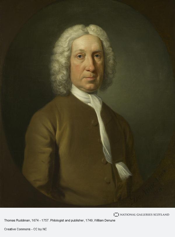 William Denune, Thomas Ruddiman, 1674 - 1757. Philologist and publisher