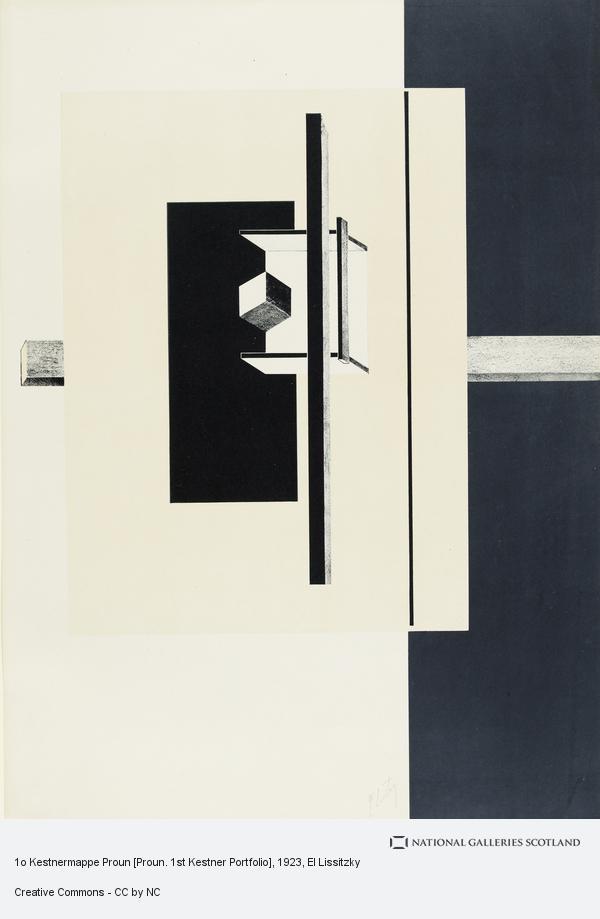 El Lissitzky, Print 5 from '1o Kestnermappe Proun'