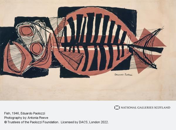 Eduardo Paolozzi, Fish (About 1946)