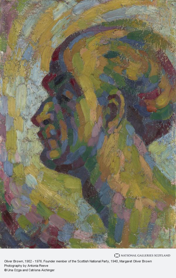 Margaret Oliver Brown, Oliver Brown, 1902 - 1976. Founder member of the Scottish National Party
