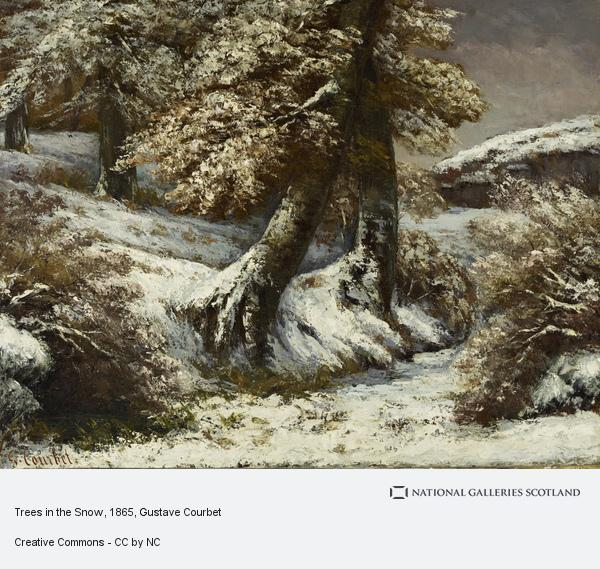 Gustave Courbet, Trees in the Snow (About 1865)