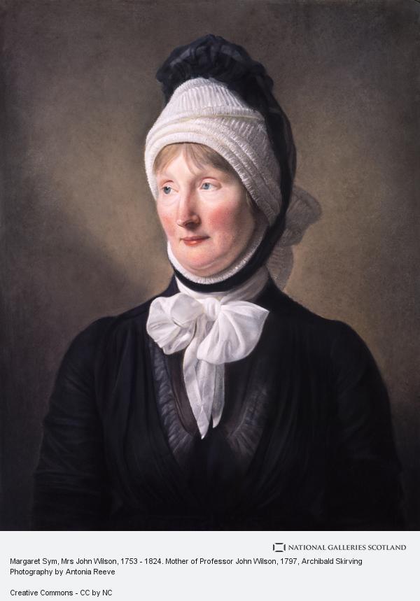 Archibald Skirving, Margaret Sym, Mrs John Wilson, 1753 - 1824. Mother of Professor John Wilson (about 1797)