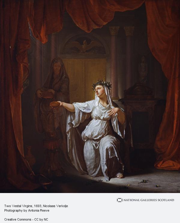 Nicolaas Verkolje, Two Vestal Virgins