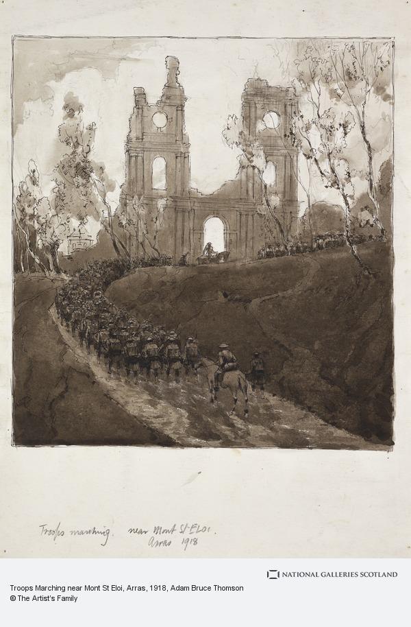 Adam Bruce Thomson, Troops Marching near Mont St Eloi, Arras