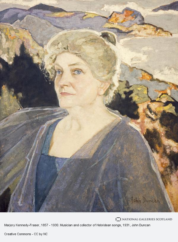 John Duncan, Marjory Kennedy, Mrs A.Y. Fraser, 1857 - 1930. Musician and collector of Hebridean songs
