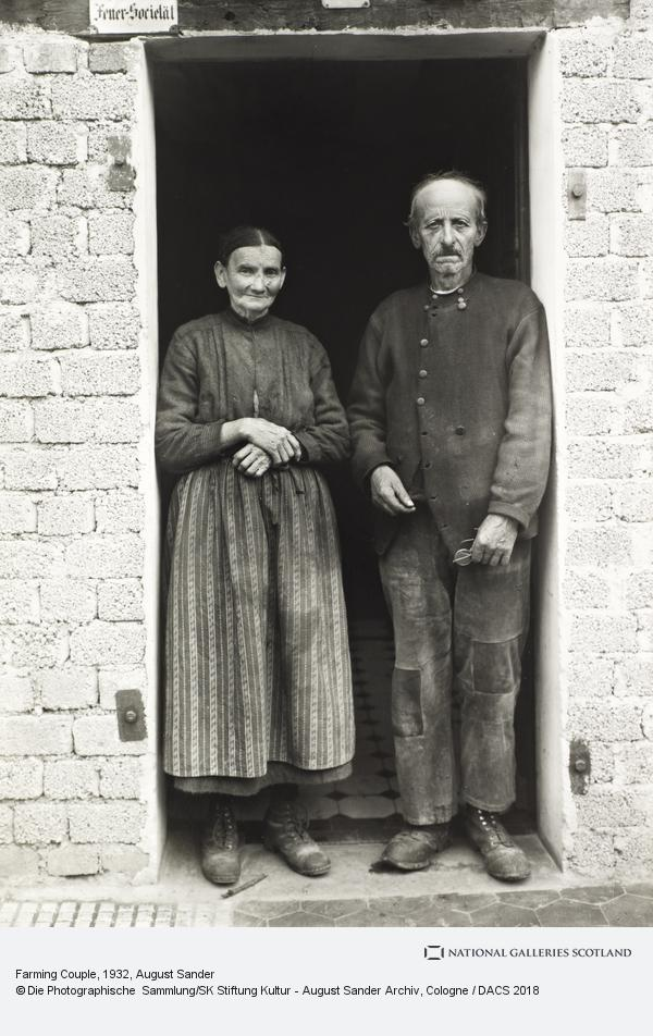 August Sander, Farming Couple, about 1932 (about 1932)