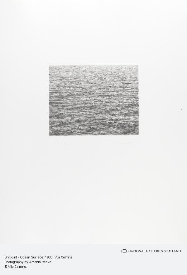 Vija Celmins, Drypoint - Ocean Surface (1983)